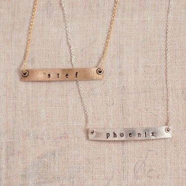 Personalized Nameplate Necklace Necklace With Name Three Sisters