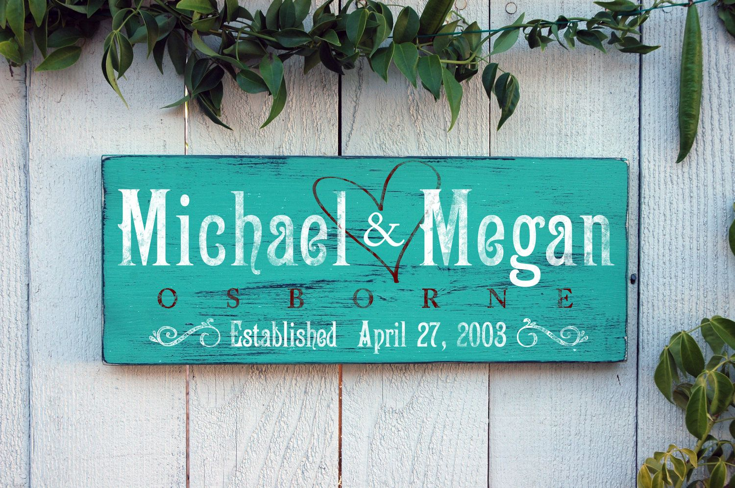 Personalized Family Elished Sign Rustic And Distressed Wood Makes Great Home Decor Wedding Gift