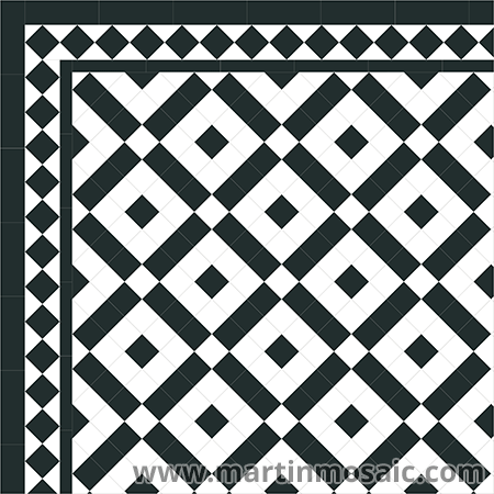 Unglazed victorian tiles, 5x5cm, thickness 9mm  | Martic Mosaic