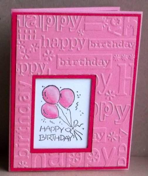 Handmade birthday card pink luv the windowshadowbox handmade birthday card pink luv the window bookmarktalkfo Gallery
