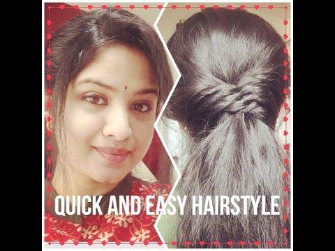 Quick And Easy Hairstyle Diy Sirikannada Hairstyle Easy Hairstyles Indian Party Hairstyles