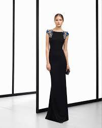 5286cc0158 Resultado de imagen para vestido largo para boda en negro y color perla  mujer joven
