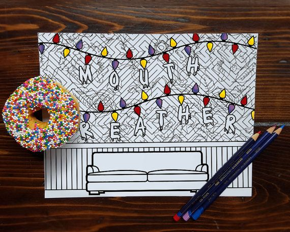Printable Stranger Things Adult Coloring Page | Stranger things ...
