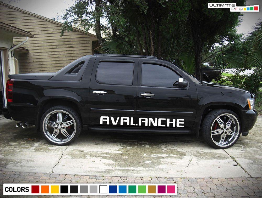 Side Decal Sticker Kit For Chevrolet Avalanche Brake Pedal Disc