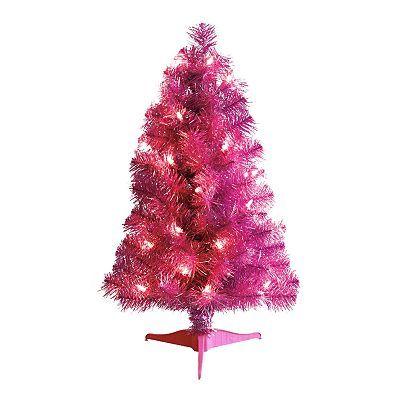 St Nicholas Square Pre-Lit Pink Tabletop Christmas Tree Elephant