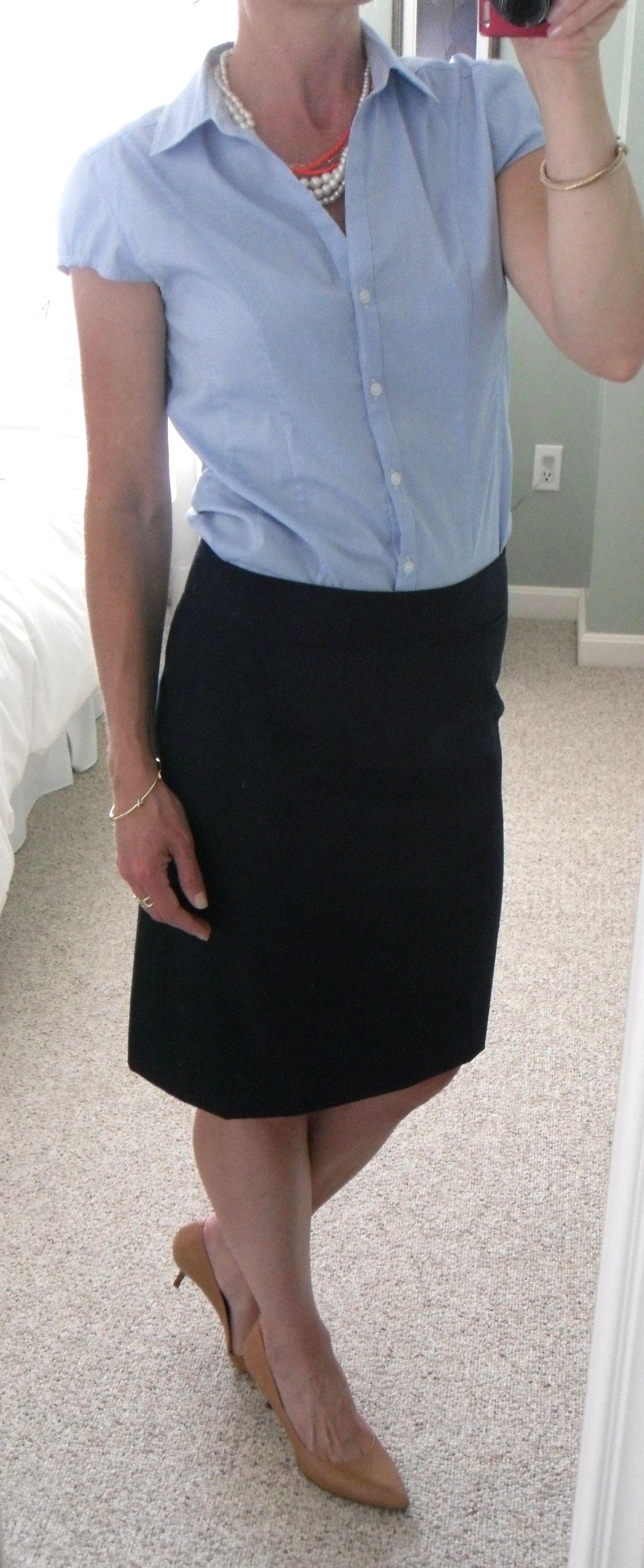 Navy short blue pencil skirt catalog photo