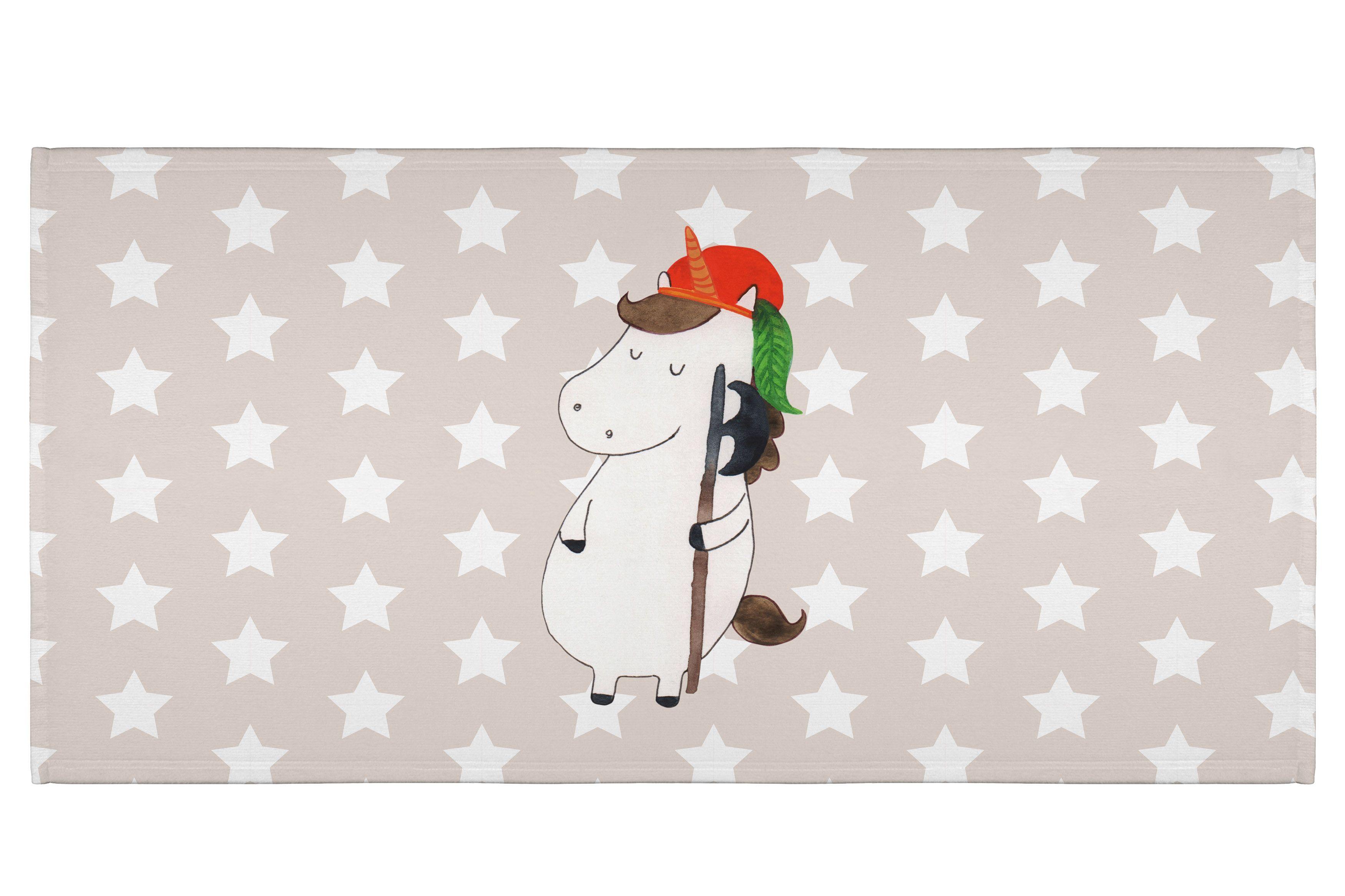 50 x 100 Handtuch Einhorn Bube aus Kunstfaser  Natur - Das Original von Mr. & Mrs. Panda.  Dieses wunderschöne Handtuch von Mr. & Mrs. Panda hat die Größe 50 x 100 cm und ist perfekt für dein Badezimmer oder als Badehandtuch einsetzbar.    Über unser Motiv Einhorn Bube  Ein Einhorn Edition ist eine ganz besonders liebevolle und einzigartige Kollektion von Mr. & Mrs. Panda. Wie immer bei unseren Produkten sind alle Motive handgezeichnet und werden mit viel Liebe in unserer Manufaktur im…
