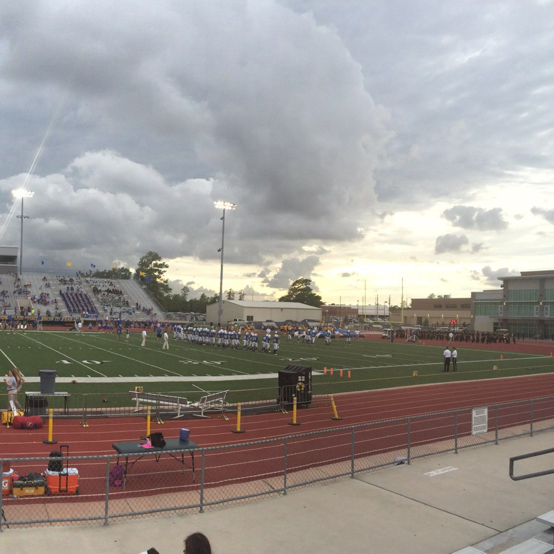 Txhsfb Cy Falls Vs Klein High School The Calm Before The Storm Such An Amazing Shot By A Scorestream Use Calm Before The Storm Sports Scores High School