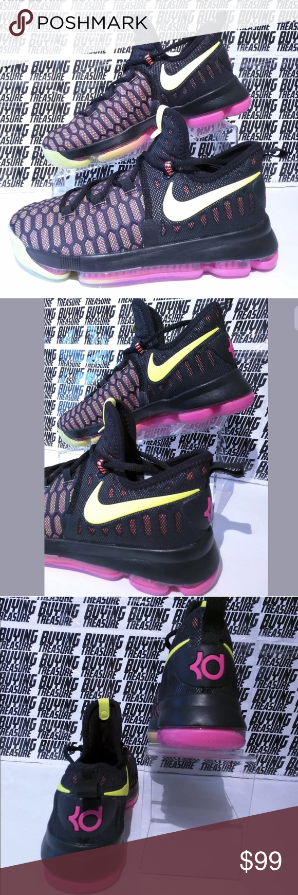 41672b7ef2b Nike Zoom KD9 GS Youth Unlimited Olympic Shoes  125 Nike Zoom KD9 GS Youth  Size 6Y Unlimited Olympic Black Multi Color Style  855908-999 BRAND NEW  without ...