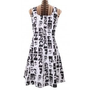 Art Ateliers Rare Toggery Mens Face Print dress