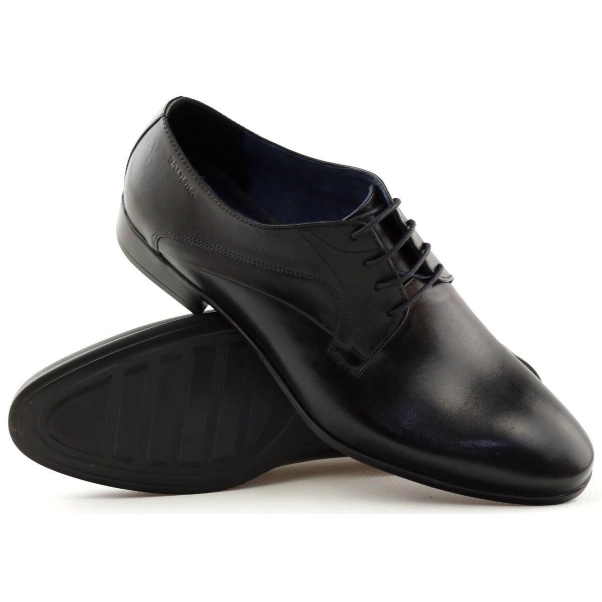 Polbuty Pantofle Badura 7589 Czarne Dress Shoes Men Oxford Shoes Dress Shoes