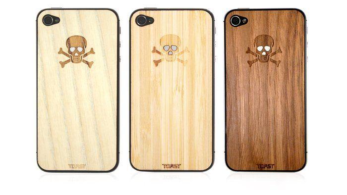 Wooden Skull iPhone Veneer