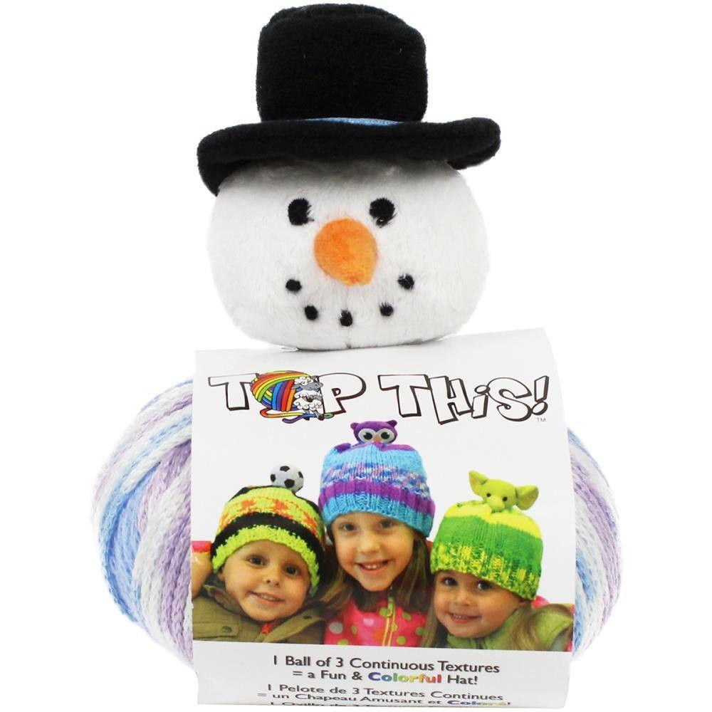 DMC Top This knitting Hat Kit Frosty SNOWMAN