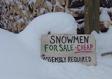 snowmen for sale!