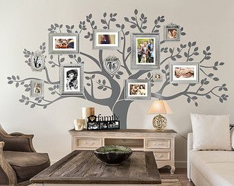 Captivating Wall Decal Family Tree Wall Decal Tree Decal By LimeDecals Home Design Ideas