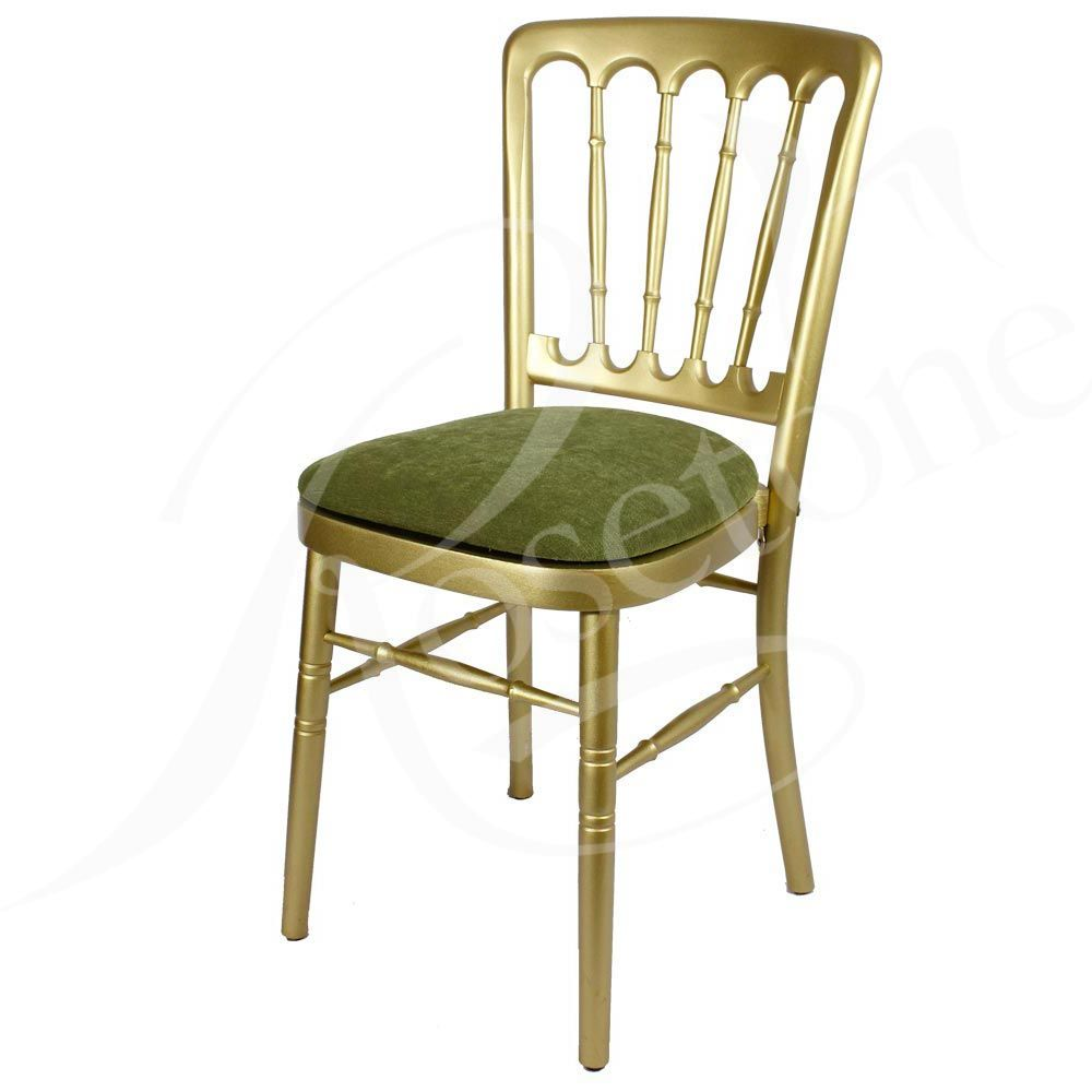 Gold Bentwood with Sage Green Seat Pad. Popular Gold Wedding Chair ...