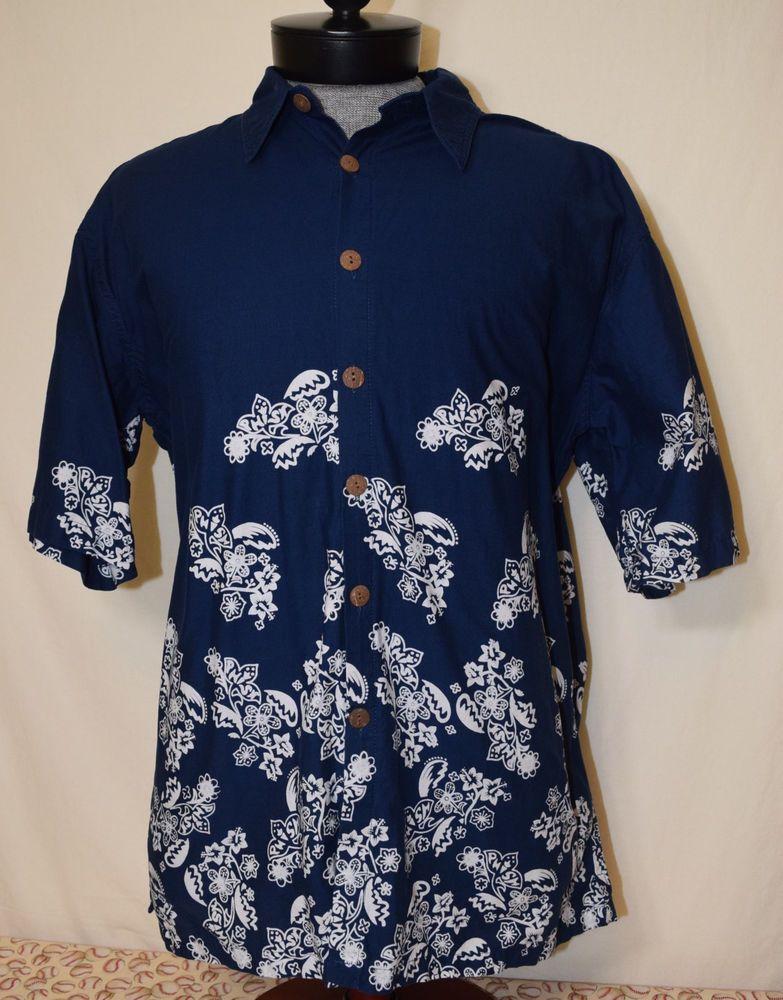 3fffd7ae30a Rare Phish Large Hawaiian Shirt L Dry Goods Blue Jam Band