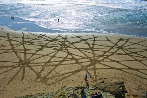 Architizer Blog » Intricately-Patterned Land Art That's Washed Away by the Tides
