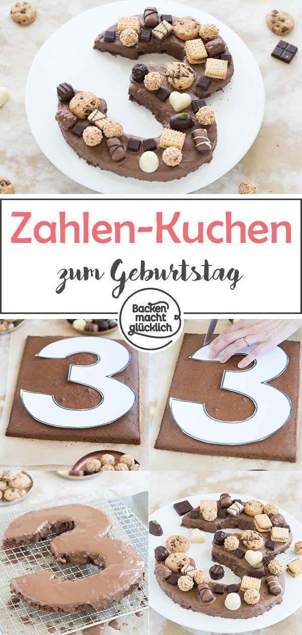 Einfacher Zahlenkuchen zum Geburtstag   Backen macht glücklich – Kindergeburtstag ▶ Gruppenboard