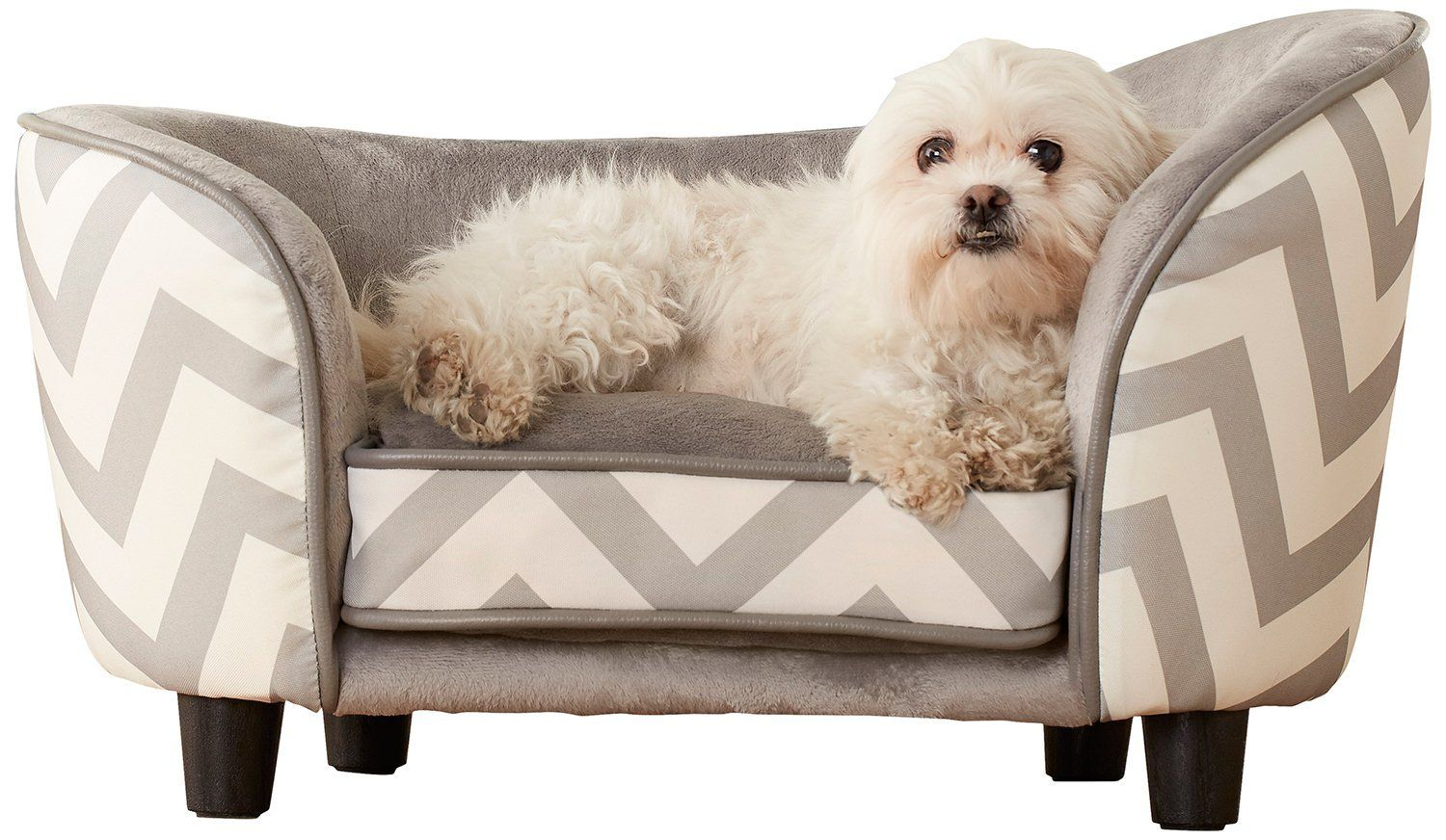 Enchanted Home Pet Snuggle Sofa Bed Chevron