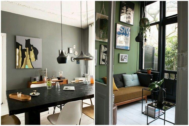 couleur kaki comment l 39 int grer dans sa d co int rieure couleurs pinterest d co kaki. Black Bedroom Furniture Sets. Home Design Ideas