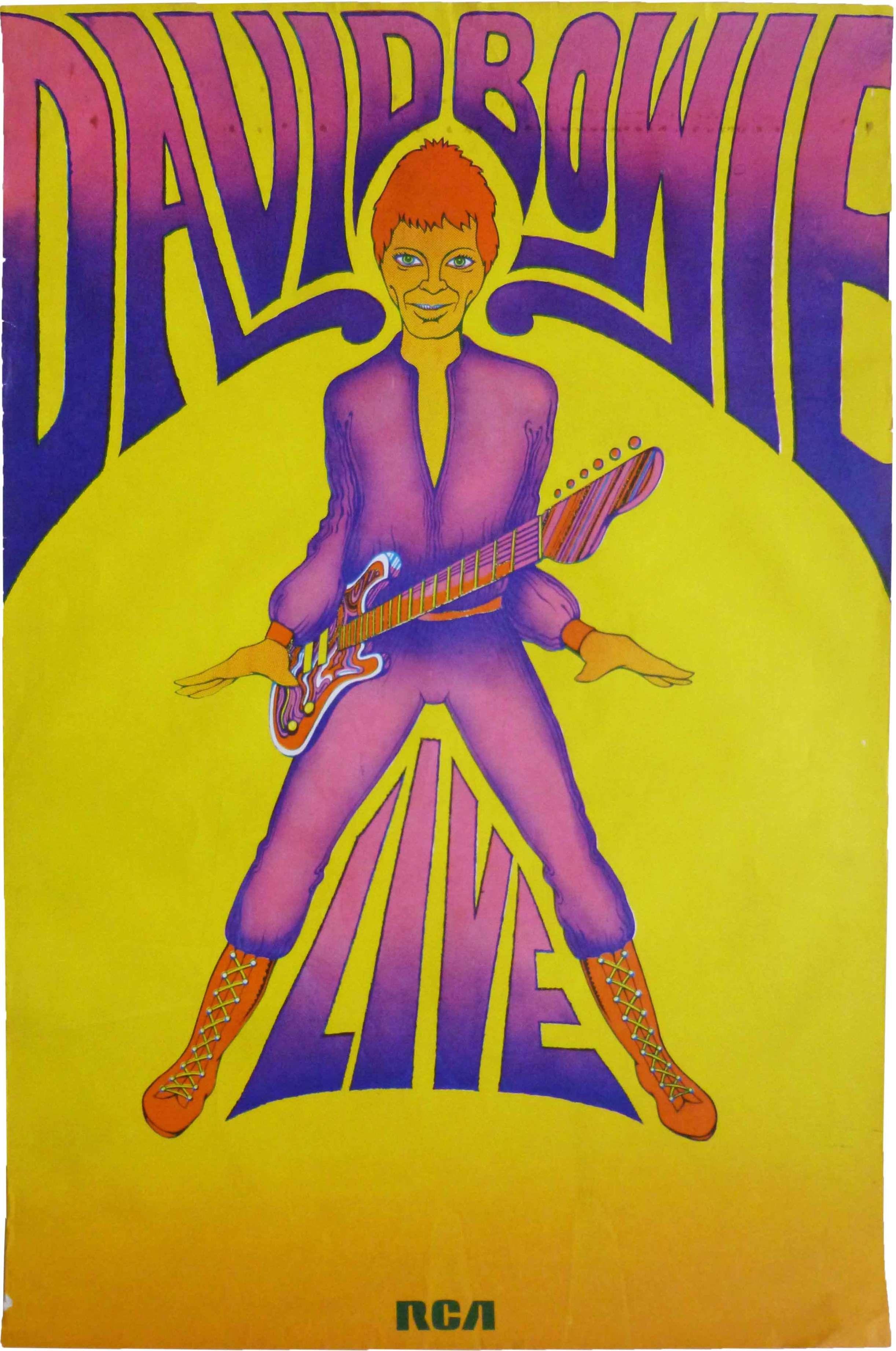 David Bowie Tour Poster George Underwood 1972 Poster David Bowie David Bowie Poster Bowie