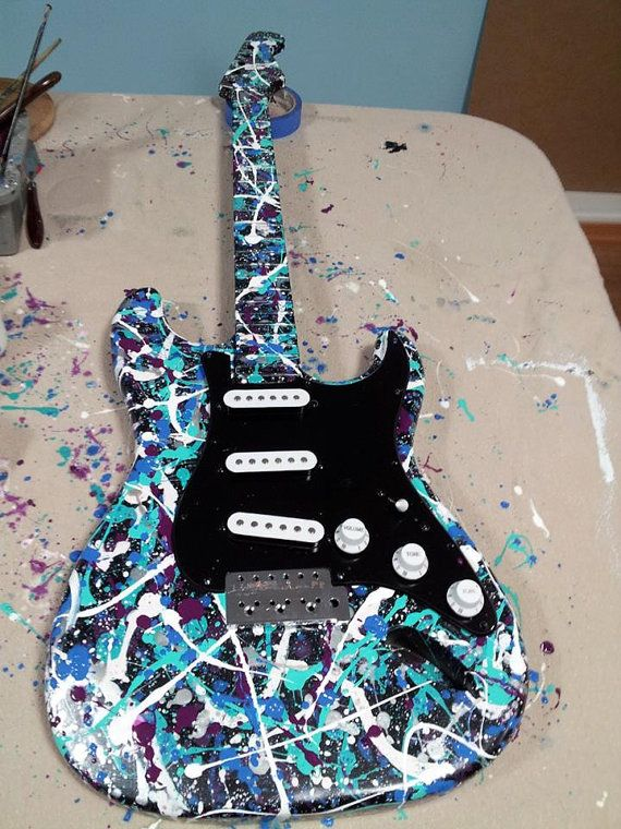Custom Painting Abstract Electric Guitar wall hangings ...