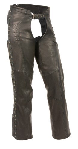 Womens Leather Chaps - Ladies Motorcycle Riding Chaps