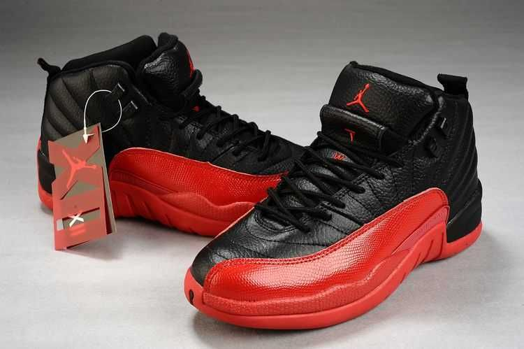 2012 Top A+ Nike Jordan 12 Sneakers for Men(Red/Black)