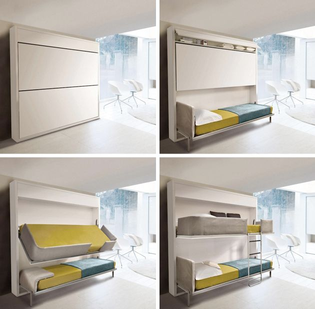 Amazing Beds For Small Spaces Part - 10: Small Spaces - Murphy Bunk Beds Cool.