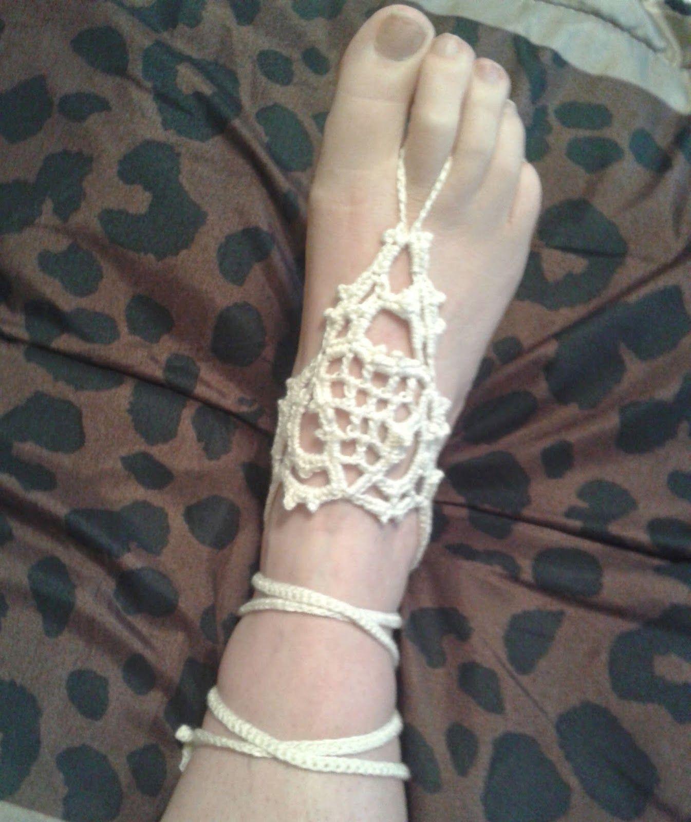 365 Crochet: Venetian Lace Barefoot Sandals -free crochet pattern ...