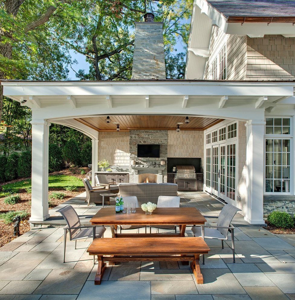 Outdoor Portico Patio Traditional With Outdoor Kitchen Stainless