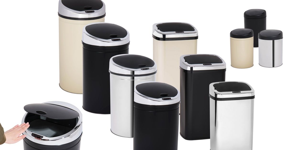 Davis Grant 3l 30l 40l Or 50l Square Or Round Sensor Bin In Choice Of Colour In 2020 Sensor Bins Chrome Plating Things To Sell