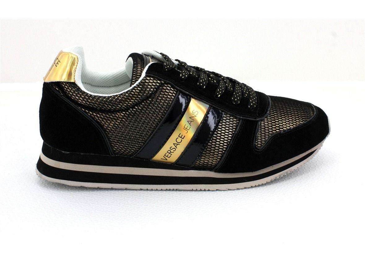 Versace Chaussure Noir | Versace, Chaussures noires, Baskets