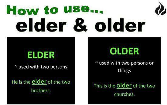 Elder or Older?