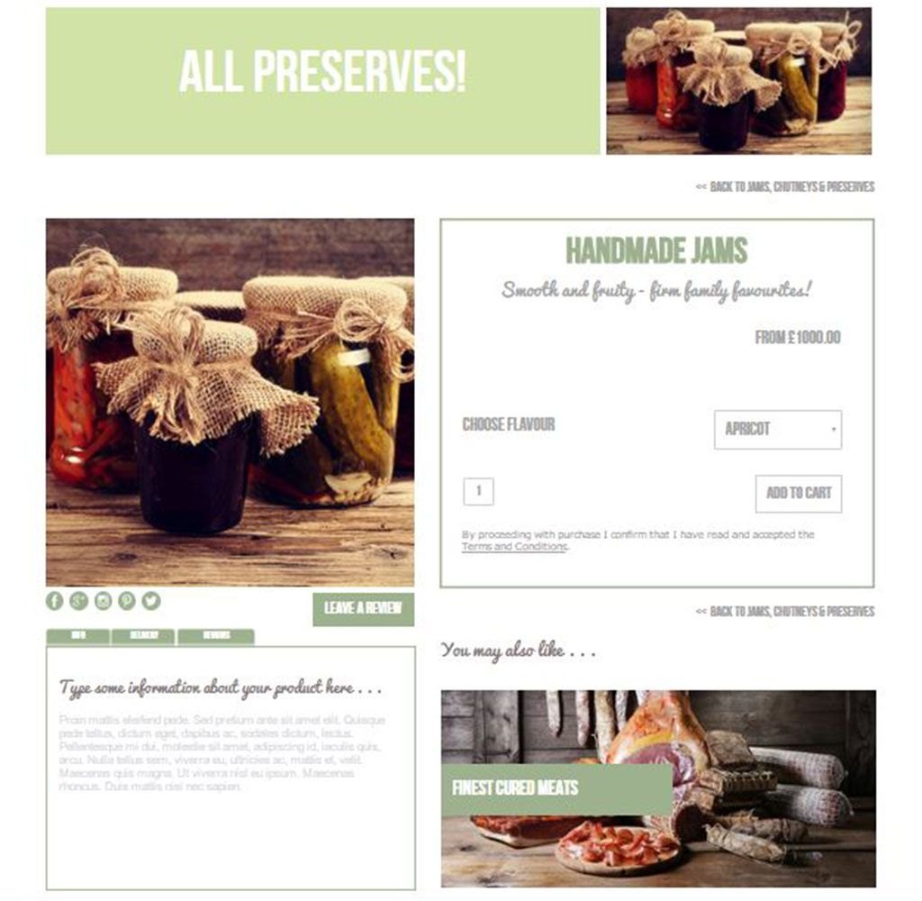 Artichoke Deli Template Sample Ecommerce Page | Templates for Serif ...