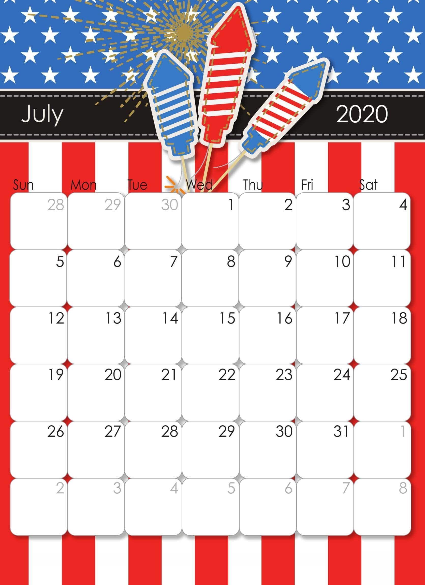 Latest July 2020 Wall Calendar Calendar Printables Free Printable Calendar Printable Calendar Design