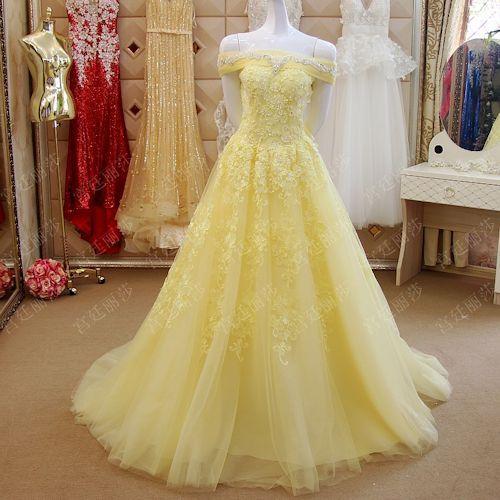 Prom dresses yellow, Yellow prom dress