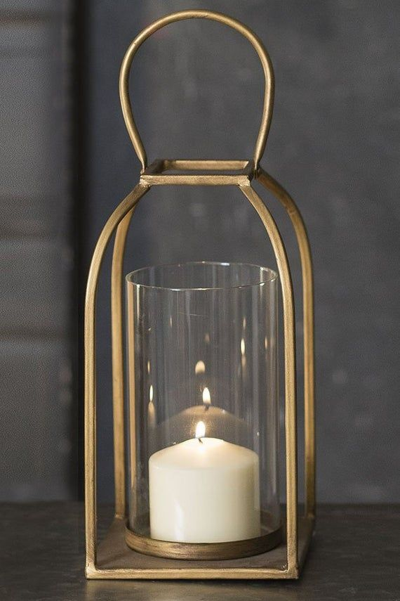 Large Tribeca Lantern With Handle Candle Holder Home Decor