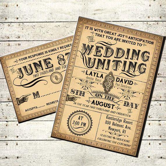 Ophelia printable diy victorian steampunk wedding invitation suite ophelia printable diy victorian steampunk wedding invitation suite vintage typography customized wedding invitation maxwellsz