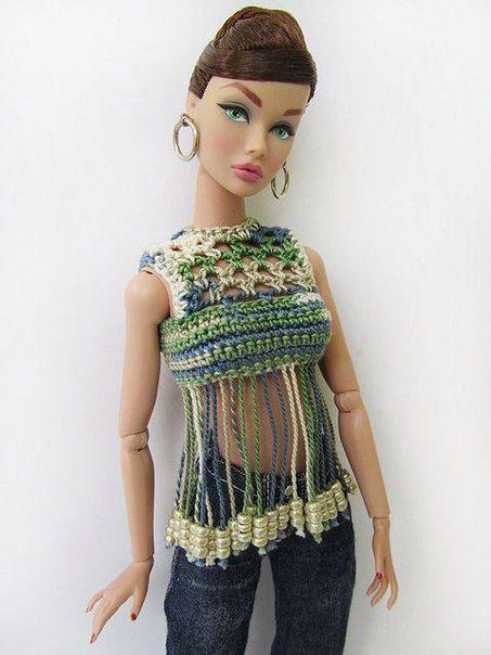Наряды для Барби/Barbie Fashion\'s photos   häkelkleidung   Pinterest
