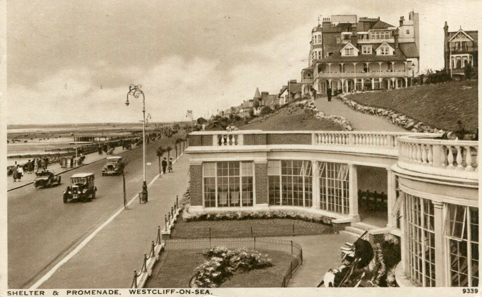 Essex Shelter Promenade Westcliffe On Sea Superb Old Cars Etc 1939 0 25 Picclick Uk Southend On Sea Essex England Seaside Holidays