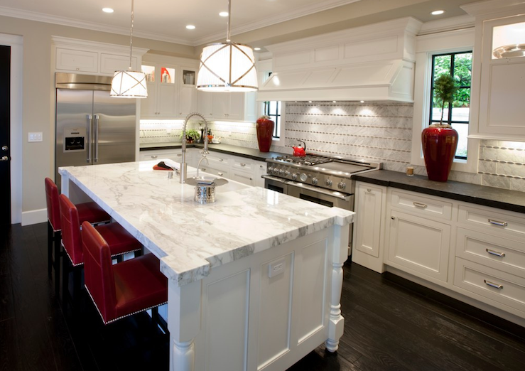 Spinnaker Development: Gorgeous White Kitchen Design With White Kitchen  Cabinets, Soapstone Counter Tops,