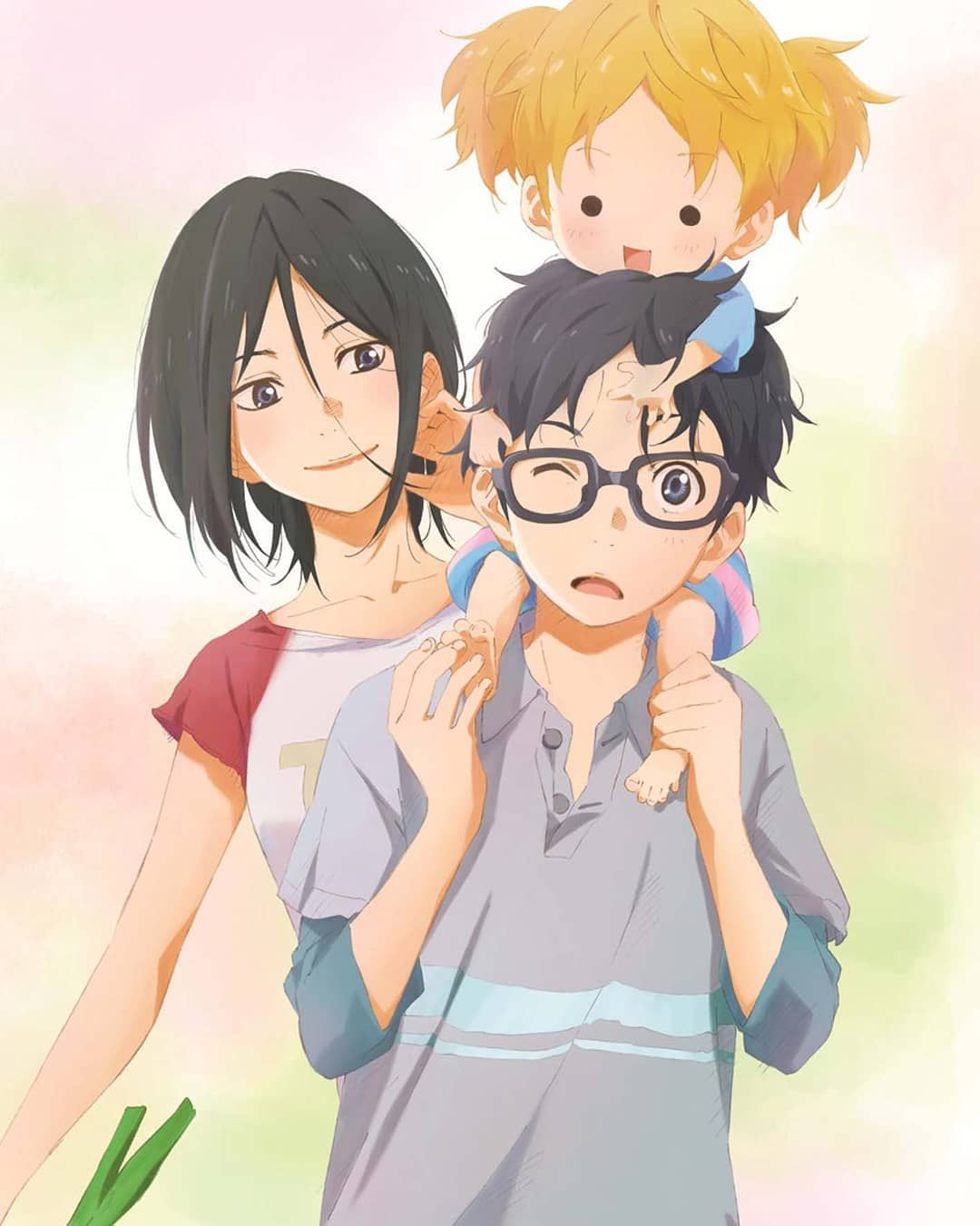 Kousei Hiroko And Koharu Your Lie In April Your Lie In April You Lied Anime Shows