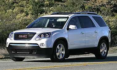 2010 Gmc Acadia Seats 8 25000 16 23 Mpg Used Cars Gmc Used