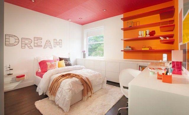 Chambre de fille ado en 20 idées de design et décoration Room - couleur chaude pour une chambre