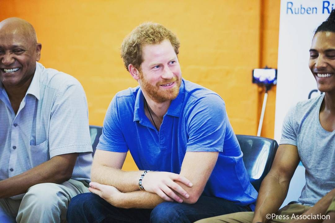 """""""On the first day of #RoyalVisitSA,  Prince Harry had the opportunity to see first hand how the dedicated team at Ottery Youth Centre in #CapeTown work…"""""""