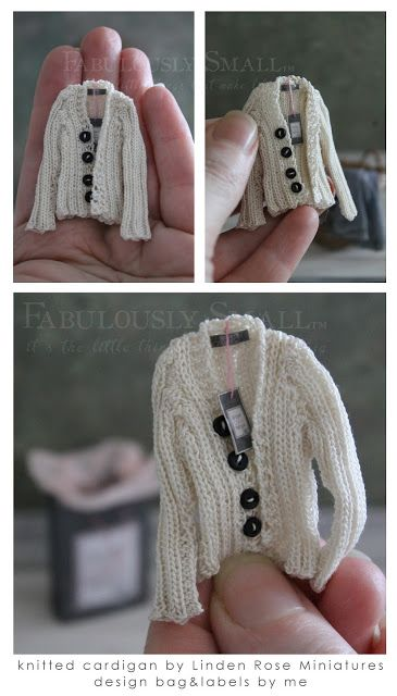 Fabulously Small: knitted mini-bliss. This is just too cute