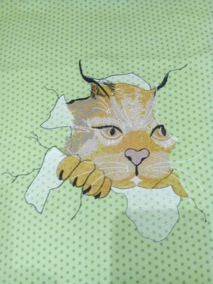 Author Teuber Cornelia Angry Cat Free Embroidery Design