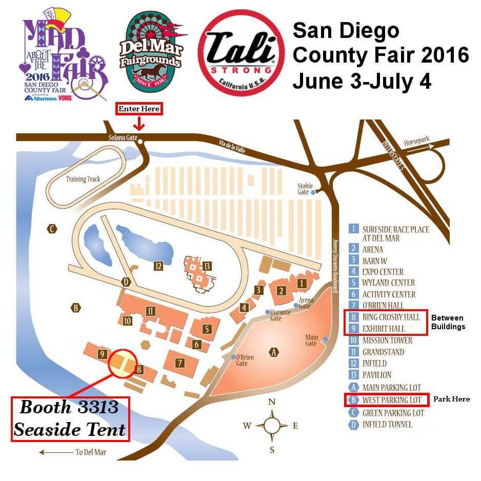 Del Mar Fair Map San Diego County Fair / Del Mar Fairgrounds 2017 | CALI Strong